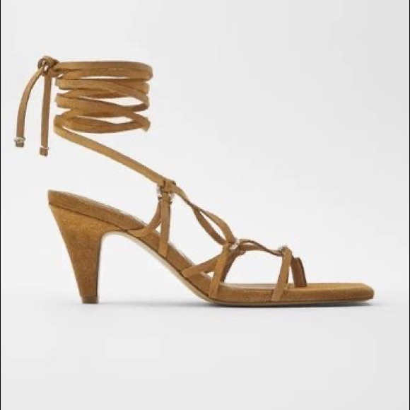 Zara strappy heel sandals NWT US 9